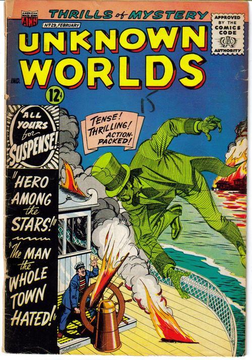 ACG Unknown Worlds #29 Hero Among The Stars Hated Man Horror Terror