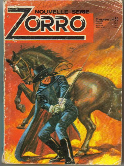 Nouvelle Serie Zorro #59 Pulp Book French Text Adventure Action