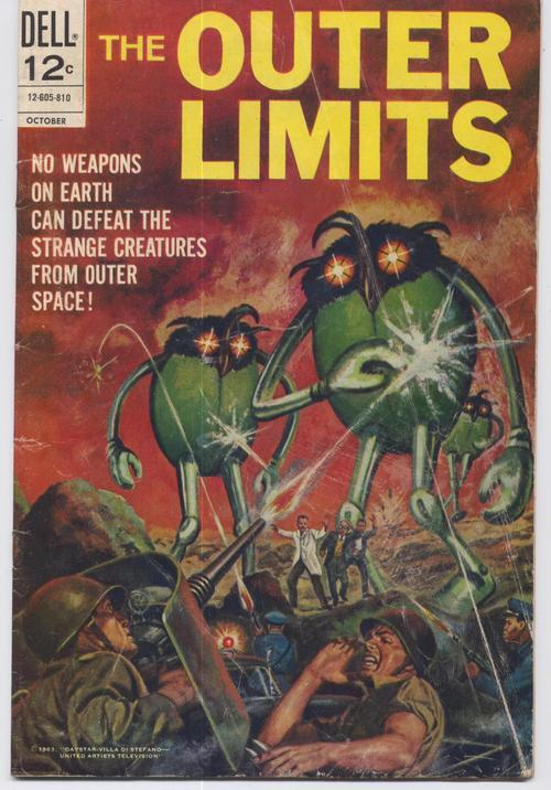 Dell Comics The Outer Limits #17 TV Reprints #1 Action Adventure Horror