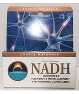 (New) Source Naturals NADH 5mg Boost Energy and Mental Alertness - 30 Ta... - $20.78
