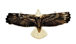 Porcelain Eagle in Flight Pendant image 1