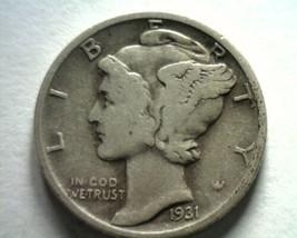 1931 MERCURY DIME VERY FINE VF NICE ORIGINAL COIN BOBS COINS FAST SHIPMENT - $12.00