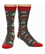 Super Mario All Over Print Crew Socks New Men Size 10-13 Nintendo Game F... - $9.95