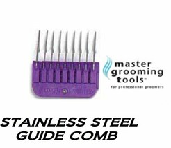 "MGT 1/4""Stainless Steel Attachment Guide Comb Fit Andis AGC,Wahl KM,Oster A5,A6 - $10.41"