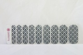 Jamberry Nail Wrap 1/2 Sheet (new) BLACK / CLEAR DESIGN - $8.60