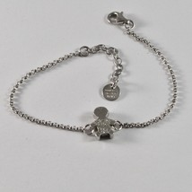 Silver Bracelet 925 Jack&co with child Stylized and Zircon Cubic JCB0858 - $62.08