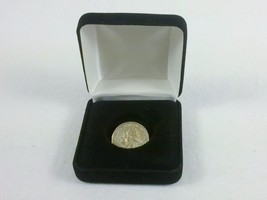 Coin Display/Gift Box, Black Velvet ~ Holds Quarter, Dubloon, Medal, Token - $7.79