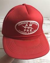 Vintage foam mesh snapback trucker hat cap abingdon wholesale plumbing e... - $9.85