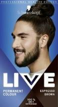 Schwarzkopf Live Hair Dye Permanent Hair Colour Men ESPRESSO BROWN 880 - $15.89