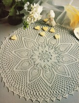 6X White Anemone Caprice Victoria Ainslie Musette Visit Crochet DOILY Pa... - $9.99