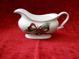 Noble Excellence Holly Bells gravy boat no underplate - $29.65