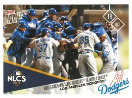 DOMINANT GAME 5 SENDS DODGERS TO THE WS - DODGERS MLB TOPPS NOW™ CARD #796 - $12.16