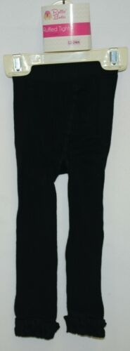 RuffleButts RLKBK120000 Ruffle Footless Tights Color Black Size 12 to 24 Months