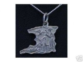 COOL Map Trinidad charm Sterling silver 925 Flag Jewelry island Caribbea... - $25.06