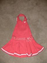 Gymboree Girls Coral Halter Tennis Dress Size 6 mm - $9.99