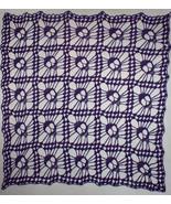 Hand Crochet Skull Afghan| Table Topper| Shawl ~ Purple Sparkle - $193.60