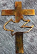 "Cross with Dove Metal Wall Art   16"" tall - $29.99"