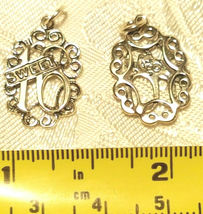 LOVE HEARTS PEACE & SUPPORT STERLING SILVER CHARMS .925 - YOU CHOOSE image 6