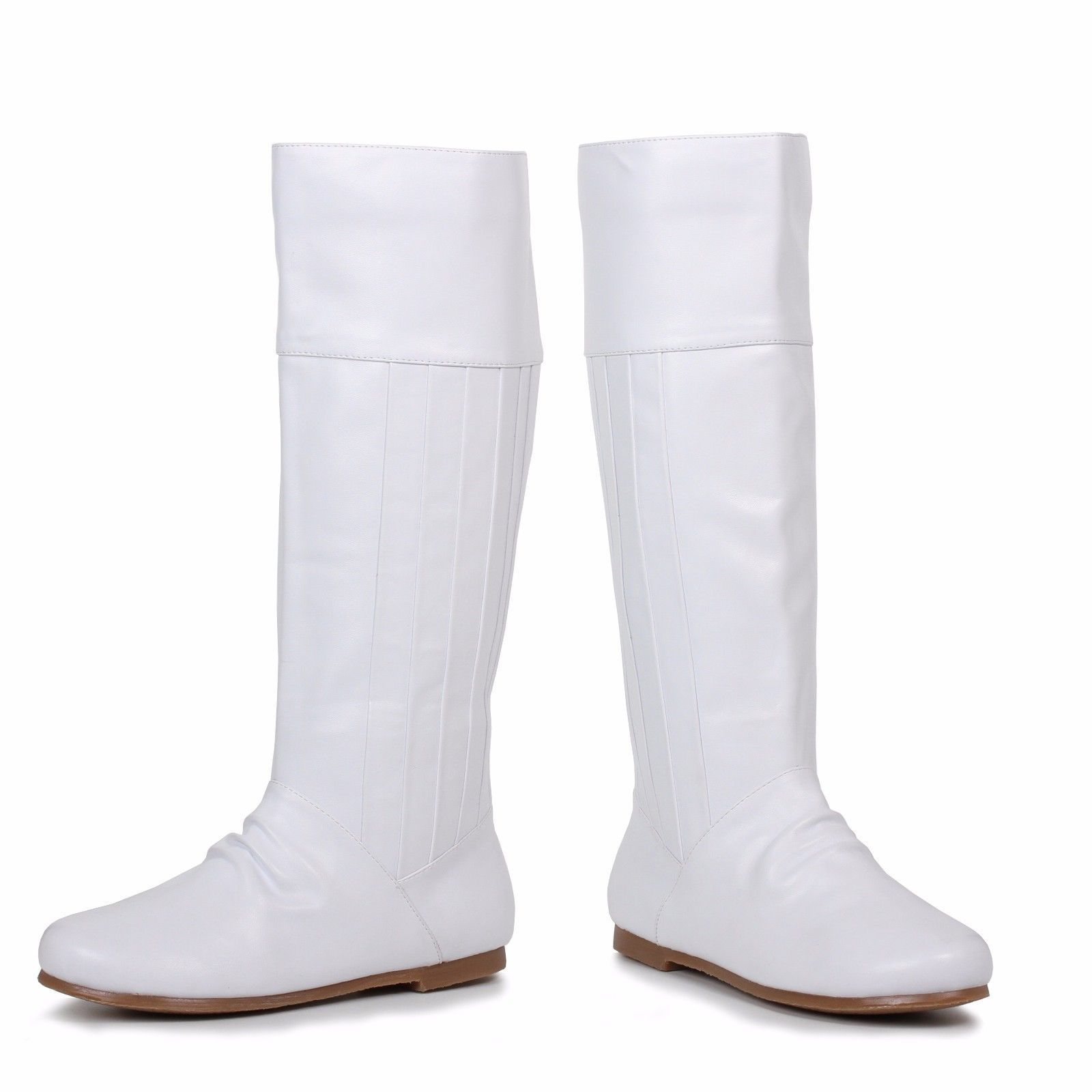 Ellie Shoes Leanna Heel Boot Shoe Halloween Sexy White Knee High Goth 105-LEANNA