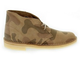Low boot CLARKS DESERT BOOT SMU in multi suede leather - Men's Shoes - $96.90