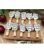 kids art display clothespin,special gifts birthday Party Favor Decor,woo... - $3.20+