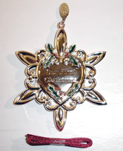 Gorham Our First Christmas Silverplate Ornament 2005 Year Tag Removeable... - $16.90
