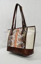 NWT Brahmin Medium Asher Leather Tote/Shoulder Bag in Melon Fisher. Tri-... - $289.00