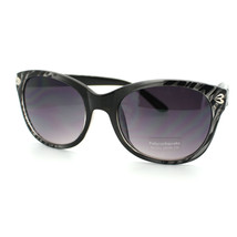 Womens Heart Pin Sunglasses Classic Round Cateye Frame Animal Print - £7.13 GBP