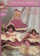 Lot of 2 Crochet Pattern Leaflets-Dolly Doorstops & Treasure Toppers - $9.46
