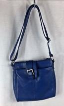 Merona Blue Cross Body Shoulder Bag Purse Buckle Adjustable Strap - $12.86