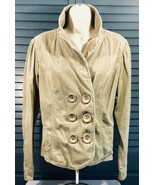 Levis Strauss Signature Corduroy Jacket Blazer Brown Button Womens Large - $14.95