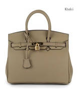 New 35cm Pebbled Leather Birkin Style Handbag Shoulder Bag Satchel Purse... - $159.95