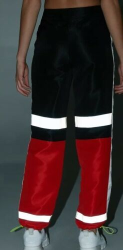 Forever 21 NASA Reflective Joggers Jogging Sweat Pants Red Black Size S NEW image 5