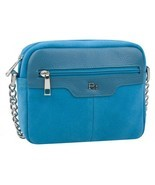 Ladies bag, zippered section, blue - $80.20