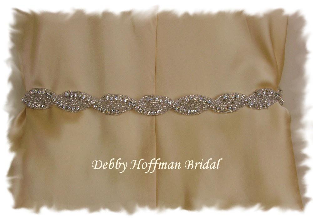 Braided rhinestone sash