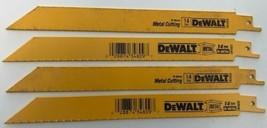 "Dewalt DW4809 8"" x 14 TPI Straight Back Bi-Metal Reciprocating Blades 4 Pieces - $6.93"