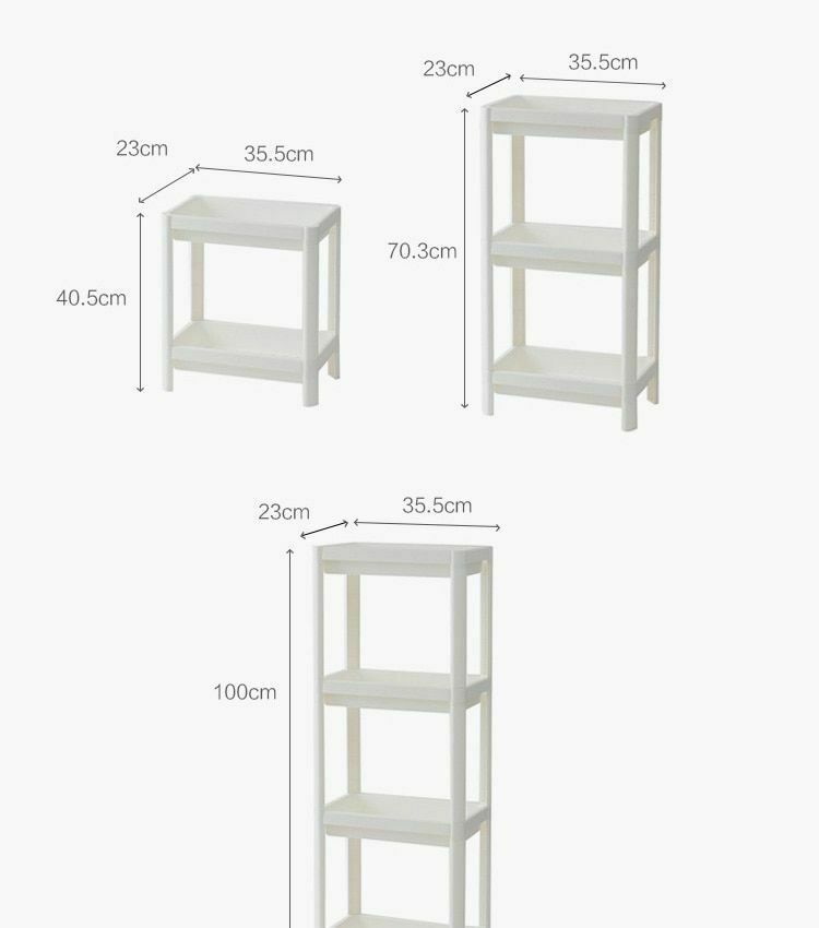 Rack Shelf Kitchen Side Plastic Storage Shelves Multi Functional House Organizer image 10
