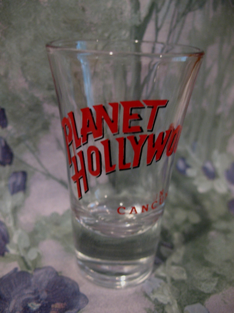 Planet Hollywood Shot Glass Cancun Mexico Souvenir RED Vintage Collector