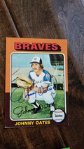 1975 Topps Signed Auto Card Johnny Oates Braves Orioles Dodgers Yankees # 319 - $16.82