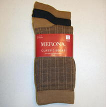 Merona Classic Crew Socks 3 Pair Invisible Plaid Dark Camel Brown Women ... - $6.00