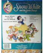 Snow White and the Seven Dwarfs Disney Counted Cross Stitch Kit 35020 - $19.99