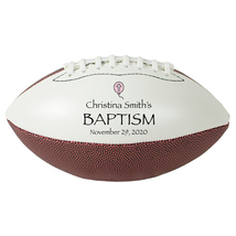 "Personalized Custom Mini 9"" Football Pink Balloon Baptism Gift - $34.95"