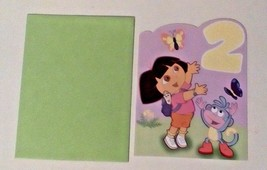 American Greetings Dora The Explorer Birthday Card For A 2 Year Old - $5.90