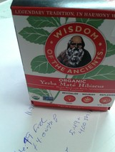 New YERBA MATE TEA hibiscus by Wisdom of the Ancients, 1.1oz, 16 bags - $5.49