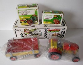 Vintage KOVAP Agro Wind-Up Tin Tractor & Trailor Toy + Potato Spinner + ... - $75.00