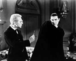 Bela Lugosi Dracula Recoils In Horror From Man Holding Cross 16x20 Canvas Giclee - $69.99