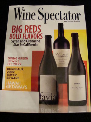 NEW Wine Spectator Big Reds March 31 2010 Magazine Mar