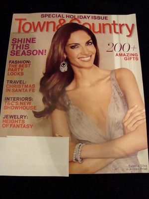 NEW Town & Country Magazine December 2009 Eugenia Silva Holiday Issue '09