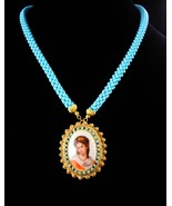 vintage Victorian necklace - Victorian handpainted cameo - French beauty... - $265.00