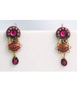 Signed ADAYA Maya Micro Mosaic Earrings - $36.00